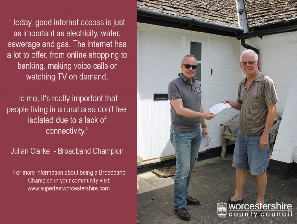 Volunteer as a broadband champion