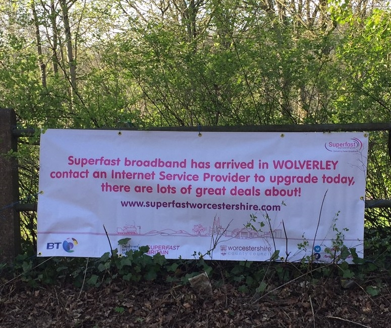 Faster broaband for Wolverley as another broadband cabinet goes live for orders